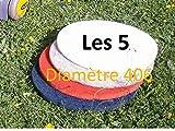 5 disques pads diamètre 406mm pour monobrosse ou autolaveuse (vert)