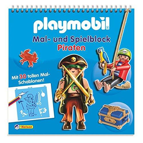 Preisvergleich Produktbild Playmobil Mal- und Spielblock Piraten: Mit 30 tollen Mal-Schablonen!