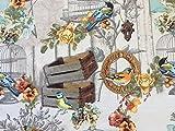 Romantischer Sommerstoff, Meterware, Summerbirds. Breite