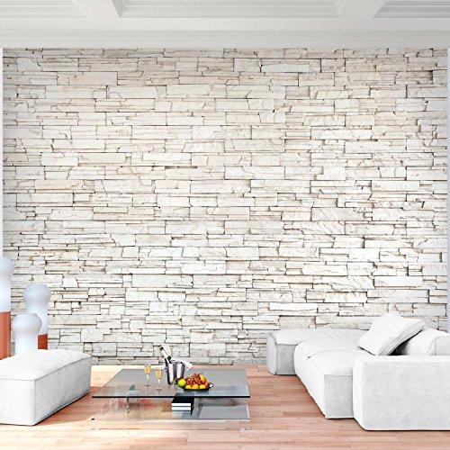 ... Fototapete Steinwand 3D Effekt 396 X 280 Cm Vlies Wand Tapete  Wohnzimmer Schlafzimmer Büro Flur Dekoration ...