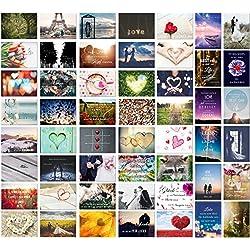 Postkarten Hochzeit 52 Wochen - 52 Postkarten - Ein Jahr lang jede Woche eine Karte - Hochzeitsgeschenk und kreative Alternative zum Gästebuch - Hochzeit Postkarten Spiel Liebe - von Sophies Kartenwelt