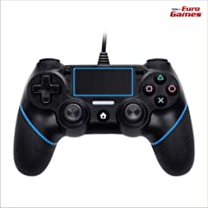RPM - Euro Games Ps4 controller - Blue. Wired Ps4 Remote Controllers, Dualshock 4, Gamepad Joystick - By Euro Games. Also works as - PS4 Pro, PS4 Slim Controller.