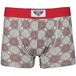Capitán América Logo - Allover Calzoncillos boxer gris/rojo M