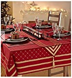 #4: Jubilee Table Cover / Table cloth Perfect for christmas gifts and christmas decorations 100 % Cotton 6 Seater 140*170 Cm ( 55*67 Inches )