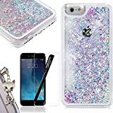 Coque iPhone 6, WE LOVE CASE Coque iPhone 6S Paillettes Fluide Flottant Liquide Sables Mouvant Etui Bling Housse Plastique Rigide Shell Protection Bumper Case Cover Couverture Antichoc IPhone 6 6S Coque Motif Bleu