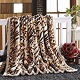 ALIMODE Thick Raschel Blanket double ultra soft mink lint-free double red wedding celebration and warm,200*230Cm,8Weight