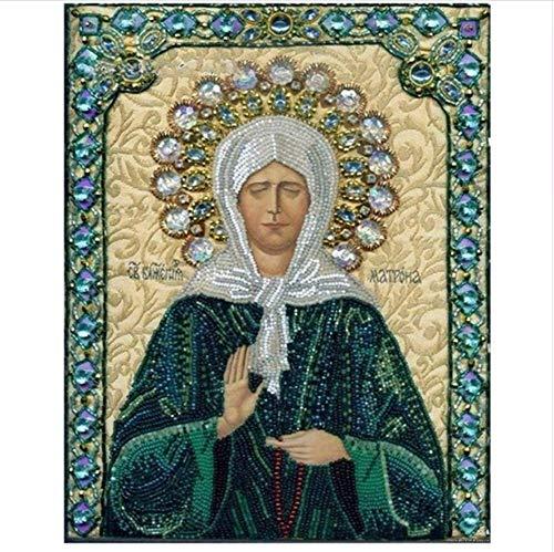 LIWEIZUAN Jesús 5D Pintura Diamante Bricolaje Etiqueta De La Pared Pegado Diamante Mosaico Punto De Cruz Costura Bordado De Diamantes Regalo 40x50cm