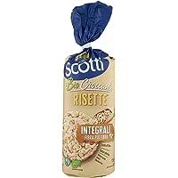 Riso Scotti - Risette Integrali Fibra Più Fibra - Gallette di Riso Senza Glutine Bio, Alimento Biologico per la…