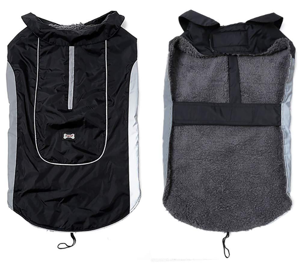 Morezi Premium Outdoor Sport Waterproof Dog Jacket Winter Warm Large Dog Coat with Harness Hole Red 2