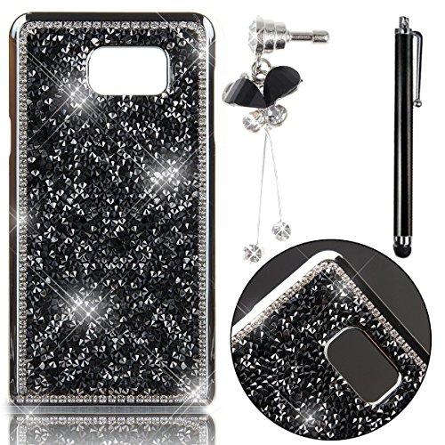 Sunroyal® Lusso Creativa 3D Dura Sparkly Glitter Bling Cristal Brillantini Diamanti Rhinestones Nero Protettivo Back (Strumenti Di Cucina Caso Del Pacchetto)