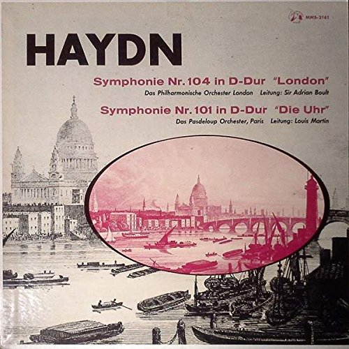 "Symphonie Nr. 104 In D-Dur ""London"", Symphonie Nr. 101 In D-Dur ""Die Uhr"" [Vinyl LP record] [Schallplatte]"