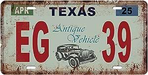 Kesoto Usa Kennzeichen Blechschilder Metallschilder Blechbild Schilder Texas Amazon De