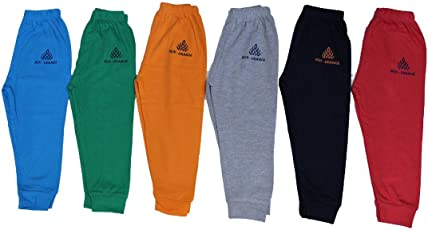 Mek Orange Cotton Track Pants - Pack of 6