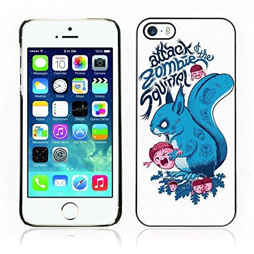 Zombie Eichhörnchen (Gummi Hard Protective Shell Schutzhülle für Apple iPhone 5& 5S–Zombie)