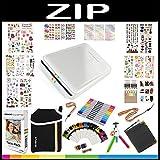 Polaroid ZIP Mobiler Drucker Geschenkset + ZINK Fotopapier (20 Blatt) + 9 originelle, farbenfrohe Aufklebersets + Tragetasche + Twin Tip Gelstifte + Rahmen + Fotoalbum + Zubehör
