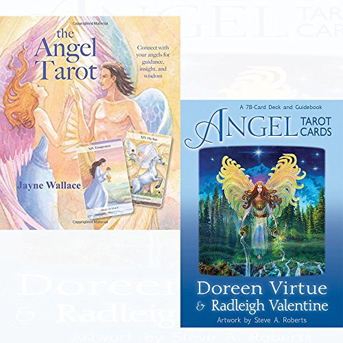 the angel tarot and angel tarot cards collection 2 set - Includes a full deck of 78 specially commissioned tarot cards and a 64-page illustrated book