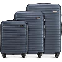 WITTCHEN Koffer – Set of 3 | hartschalen, Material: ABS | hochwertiger und Stabiler | Blau | Verschiedene Größen