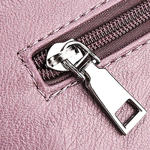 PU Frauen Einfach Freizeit Bunt Wearable All-Spiel Klein Taschen Einzel Umhängetasche Grey