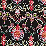 Fabulous Fabrics Chiffon Juwelen – schwarz/pink —
