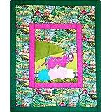 Farbiger Wandbehang für das Kinderzimmer - Kuhmotiv - Kinder - Textil Wand Art