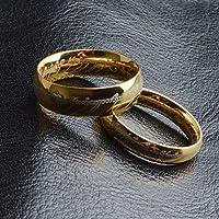 Skyllc® La eternidad del amor de los pares de acero de titanio de oro anillos