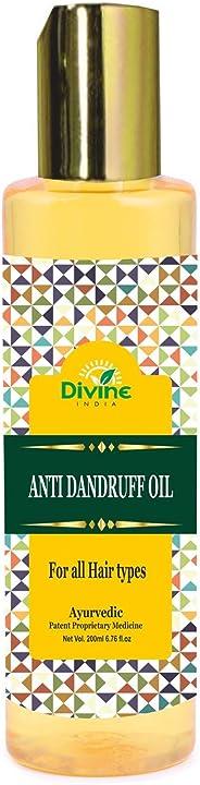 Divine India Anti Dandruff Oil for all Hair Types - Ayurvedic, 200ml