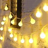 Fulighture 5M Guirlande Lumineuse,Guirlande Lumineuse Boules,40 Petites Boule Étanche IP65,Alimenté USB, Eclairage Décoration