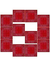 BOOLAVARD 100% coton, 1er 6 ou 12 Pack Bandanas avec motif Paisley original | Couleur au choix