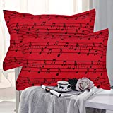 #8: HighLife Ahmedabad Cotton Luxurious 2 Piece Pillow Cover Set (Music Love)- 17