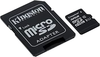 Kingston SDCS/32 GB MicroSD Canvas Select Class 10 UHS-I speeds Up to 80 MB/s Read ( SD Adapter Included) - Bring Your HD Videos to Life