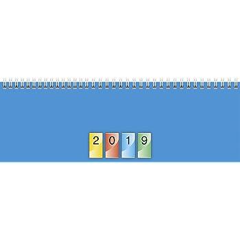 Glocken Querkalender Querterminbuch Karton 10 1 Woche// 2 Seiten 297 x 105 mm blau