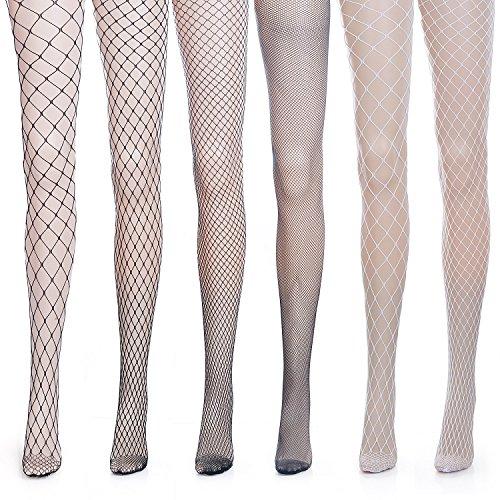 ZeWoo 6 Paar Damen Netzstrumpfhosen, Feinstrumpfhosen, Strumpfhosen Damen Mesh Strümpfe Frauen Netzstrumpfhose Fischnetz Netzstrümpfe Socken Strumpf - Damen Fischnetz