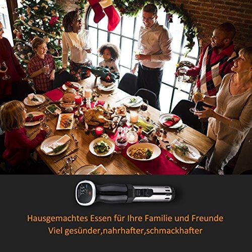 OMorc Sous Vide Stick, Auto-Off-Funktion, 850W Niedrigtemperatur Garer mit digital Display, Immersion Zirkulator, BPA-frei Präzisionskochtopf mit GS,RoHS,CE Zertifizierung(Rezept verfügbar) - 2