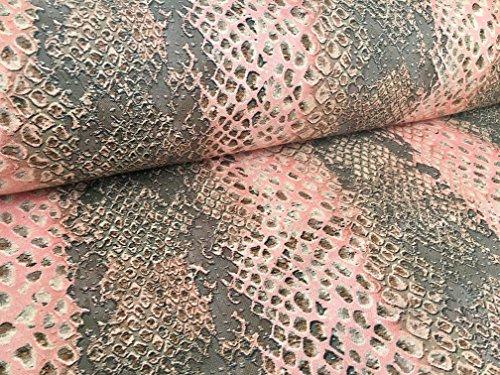 Coral Snake Skin Digital Vorhang Möbelstoff Animal 160cm breit (Meterware) (Lush Snake)