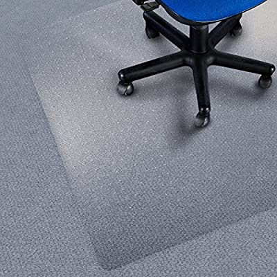 etm Chair Mat for Carpet Floors, Low/Medium Pile, 100% Pure Polycarbonate, No-Recycling Material - Transparent, High Impact Strength - inexpensive UK chair store.