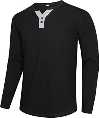 APTRO Mens Long Sleeve T Shirts Casual Tops Henley Shirt