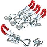 YOTINO Metalen spansluiting GH-4001, 4 stuks hefboomsluiting, spansluiting, kleine kniehendelspanner verstelbaar, houdcapacit
