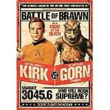 Aquarius Star Trek Kirk Vs Gorn Tin Sign Novelty by Aquarius