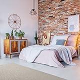 havatex Schurwolle Teppich Shepherd - Farbe wählbar | 100% strapazierfähige Naturfaser Wolle | für Wohnzimmer Schlafzimmer Esszimmer Büros, Farbe:Beige, Größe:100 x 150 cm