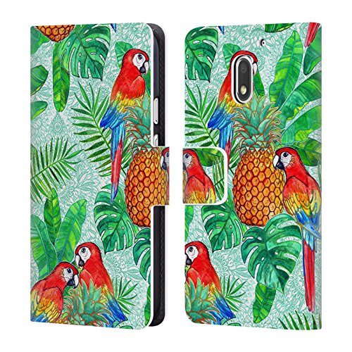 Head Case Designs Official Micklyn Le Feuvre Pineapples and Parrots Tropical Summer...