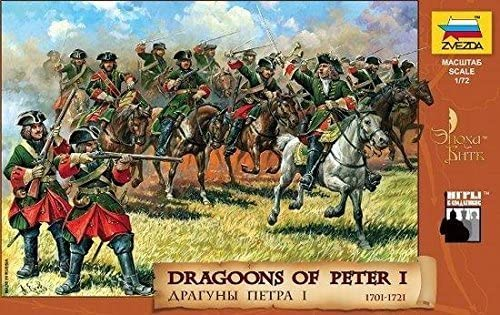 Dragoons of Peter I 1701-1721 (10 Mounted/9 Foot Soldiers & & & 12 Horses) 1/72 Zvezda by Zvezda   Outlet Online  4a6faf
