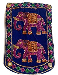 Kasia™ Designer Jaipuri Embroided Mobile-Phone Pouch Cover With Purse Pocket And Sari Hook For Women And Girl,...