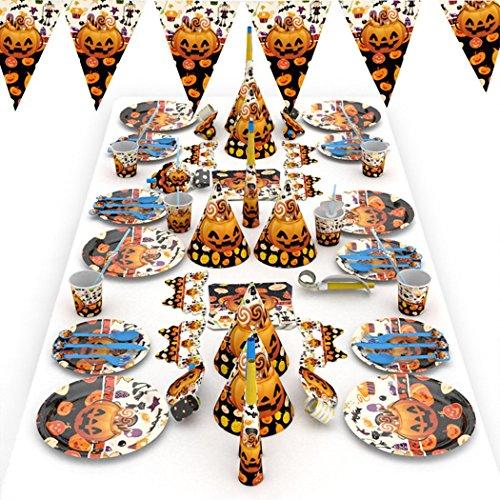 (Funpa 77pcs Halloween Dekoration Set Sortiert Typ Geschirr Party Banner)
