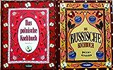 2 Kochbücher: Das polnische Kochbuch; Das russische Kochbuch.