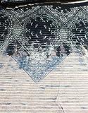 Hilco Viskosejersey Paisley Azul Meterware Panel rosè blau