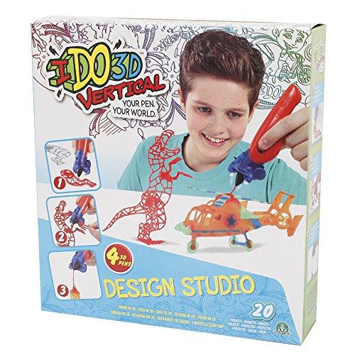 Ido 3D DDD02000 Vertical - Design Studio Set 4 boligrafos (Giochi Preziosi DDD02000)-(,) Colorido 3D - , Color  (Giochi Preziosi DDD02000)