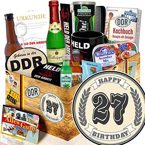 Geschenk zum 27.   27 Geburtstag Geschenk Ideen   Ost Paket (Ideen Geburtstag 27.)