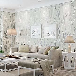 Yosot Dormitorio Minimalista Moderno Salón Tv Fondo 3D Curve Stripes No Tejidas Blanco De Papel Tapiz