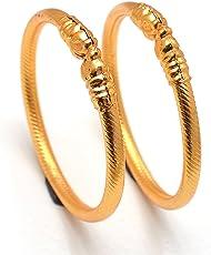 Jewar Mandi 22 Ct Gold Plated Bangle Set For Women And Girls