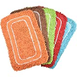 """PINDIA Fancy 2 Piece Synthetic Mat Set - 24""""x16"""", Assorted"""